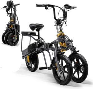 E-Bike Dreirad A&DW Elektro-Dreirad Mini Faltbare Dreirad