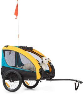 Fahrrad Kinderanhänger Klarfit Husky Race Fahrrad-Hundeanhänger,ca. 282 L Volumen,Material: 600D Oxford Canvas mit wasserdichter PVC-Beschichtung,SmartSpace Concept