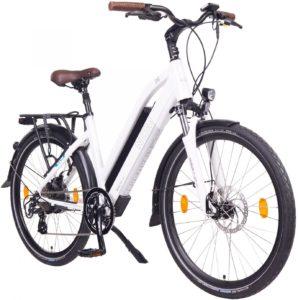 "NCM Milano 48V, 26"" / 28"" Urban Trekking E-Bike Elektrofahrrad Pedelec, 250W 13Ah 624Wh, weiß, schwarz Preise:"