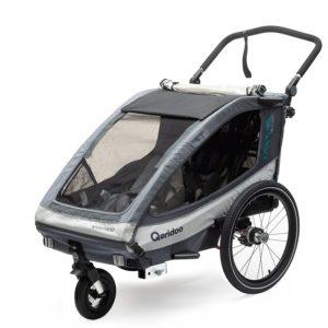 Fahrrad Kinderanhänger Qeridoo Sportrex2 Deluxe 2019 - Anthrazit