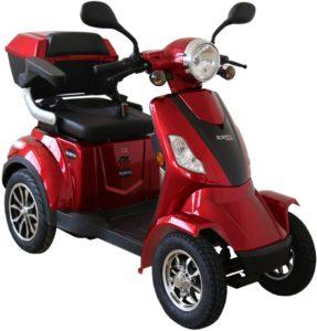 Rolektro E-Quad-15 Rot Elektromobil Elektroroller 4-Rad 1000W 15 Kmh RW 50KM Koffer Rückwärtsgang