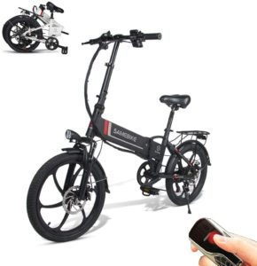 SAMEBIKE Elektro Fahrrad mit Fernbedienung 20 Zoll