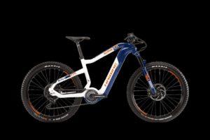 HAIBIKE XDURO AllTrail 5.0 Flyon Elektro Bike 2020 (L/50cm, Blau/Weiß/Orange)