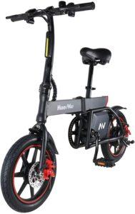 Günstige E-Bikes Elektrofahrrad, 14 Zoll E-Bike, Elektro Faltrad mit Lithium-Akku (36V 6.0Ah), 350W Motor, 15-20 Meilen Pedelpraktisches Elektro Klappfahrrad