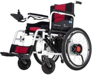 Elektrorollstuhl L&F Elektrischer Rollstuhl Faltbar - Elektrorollstuhl Faltbar - Elektrischer Faltrollstuhl Tragbarer Medizinischer Leichte Roller,Tragbare Ältere Behinderte Hilfe Auto