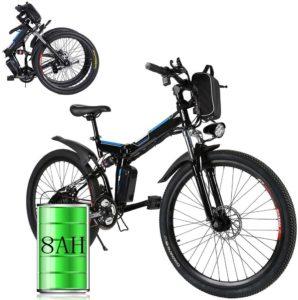 Elektrofahrräder 36V 8AH Lithium Batterie Faltrad MTB Mountainbike E-Bike 7/21 Speed Fahrrad Intelligence Elektrofahrrad
