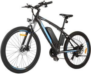 BIKFUN 27.5 Zoll E-Bike Elektrofahrrad mit 10 Ah Lithium-Akku, Mountainbike Shimano 21-Gang 250W Motor Elektrisches Fahrrad
