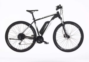 Fischer E-Bike MTB EM 1724 schwarz weiß, 29 Zoll, RH 51 cm, Hinterradmotor 45 Nm, 48 V Akku