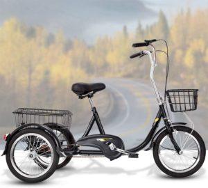 Dreiräder 3-Rad-Adult Tricycle, Dreirad Mit Abnehmbarem Korb, 20-Zoll-Rädern Trike